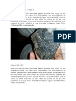 Descripcion de Rocas de Campo 2