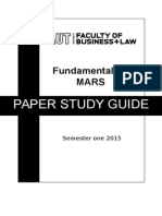 Fundamentals of MARS Study Guide S1 2015(1)