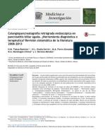 Colangiopancreatografía retrógrada endoscópica en pancreatitis biliar aguda
