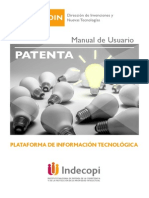 Manual del usuario web de PATENTA - INDECOPI