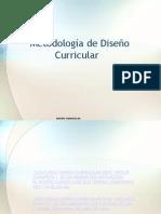 Metodología de Diseño Curricular