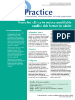 reduce modifiable  cardiac risk factors in adults