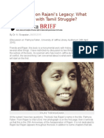 A Reflection on Rajani's Legacy What Went Wrong With Tamil Struggle