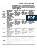 work sample grading rubric