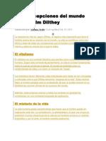 Las Concepciones Del Mundo de Wilhelm Dilthey
