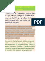 Definición de Sociología y Sociología de La Empresa