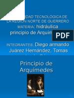 Principio de Arquimedes Diego Tomas