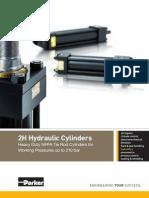 HY07-1110UK 2H Inch Series Tie Rod 210 Bar Hydraulic Cylinders