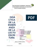 Didactica de La Enseñanza de La Lectoescritura