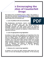 Factors Encouraging the Distribution of Counterfeit Drugs