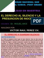 EL DERECHO AL SILENCIO Y A LA PRESUNCIÓN DE INOCENCIA