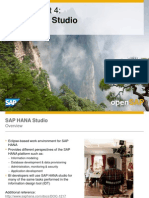 OpenSAP Bifour2 Week 1 Unit 4 HANAStudio Presentation