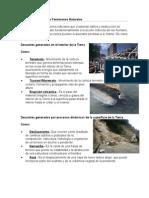 Desastres Naturales o Fenómenos Naturales