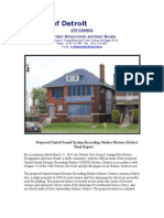 United Sound Systems Recording Studios Historic District Final Report