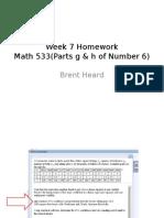 Math533week7homework Help