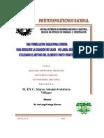 Una Formulacion Variacional Hibrida Para Resolver La Ecuacion Del Calor No Lineal General Utiliza