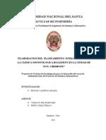 ELABORACION DEL  PLANEAMIENTO  ESTRATEGICO PARA LA CLINICA ODONTOLOGICA ROALDENT EN LA CIUDAD DE NVO. CHIMBOTE