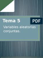 Tema 5 Variables Aleatorias Conjuntas..pptx
