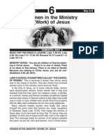 2nd Quarter 2015 Lesson 6 Easy Reading Edition Women in the Ministry of Jesus