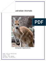 australian animals millie motherway