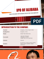 Ipo of Alibaba