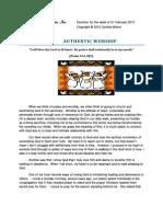 Cynthia Wilson Ministries - Devotion 020110- Authentic Worship
