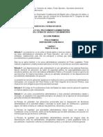 Ley Del Procedimiento Administrativo Del Estado de Jalisco y Sus Municipios