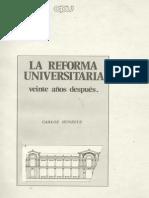 La Reforma Universitaria, Veinte Años Después