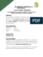 CERTIFICADO DE PARAMETROS  URBANISTICOS  Y  EDIFICATORIOS -  2015 - JORGE GALLO GUTIERREZ