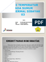 Studi Temperature Pada Sumur Geothermal Sibayak