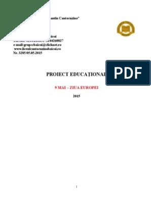 Proiect Educational 9 Mai Ziua Europei