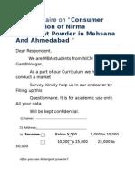 Final Questionnaire on Nirma