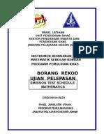 Ikam Borang Rekod Ujian Pelepasan Matematik Tahap 1