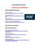 web resources for the australian colonies