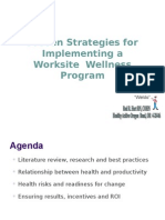 Implementing Employee Wellness Program