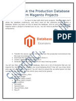 How to Tweak the Production Database for Short Term Magento Projects