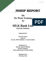 Silk Bank Internship Report