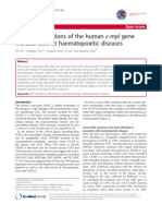 Different Mutations of the Human C-mpl Genes