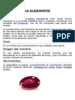 Mineralogía II