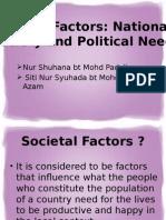Nur Shuhana n Siti Nur Syuhada Societal Factors