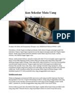 US Dollar Bukan Sekedar Mata Uang
