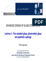 Fire Resistant Glass, Photovoltaic Glass and Aesthetic Coatings