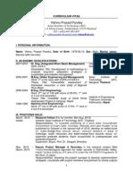 CV of Dr. Vishnu Prasad Pandey