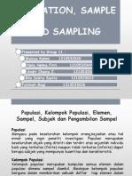 Population,Sample dan Sampling