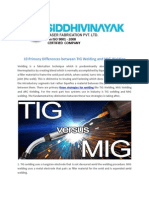 10 Primary Differences Between TIG Welding and MIG Welding