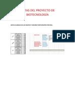 Notas Del Proyecto de Biotecnología 14-15