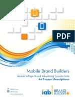 IAB Europe Mobile - Recommandations de formats branding