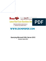 Free 70 461 Exam Questions PDF Microsoft1