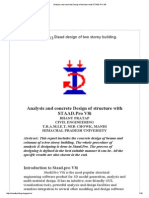 Analysis and Concrete Design of Structure With STAAD