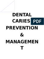 DENTAL CARIES Writeup - Abhishek